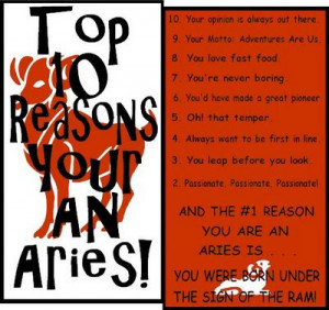 ... aries top 10 reasons you are aries who are aries aries likes aries
