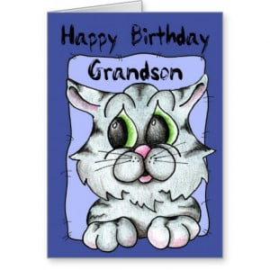 Happy Birthday Grandson Cards