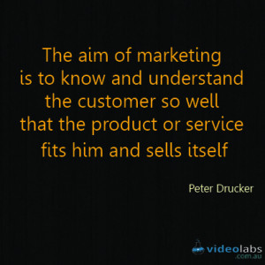 quotes tagged marketing peter drucker quotes video content traffic ...