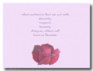 Love respect and honesty quotes