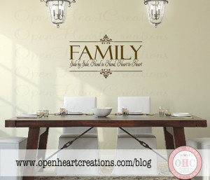... Christian Family Wall Quote Lettering Vinyl Decals 22h x 36w QT0106