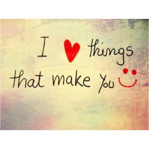 Make someone you love smile.