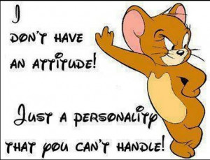 Don't Have An Attitude Just A Personality