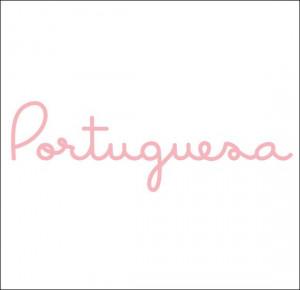 Portuguese Girl Quotes Portuguesa (portuguese girl) decal in white on ...