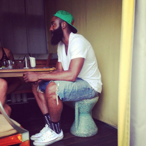 James Harden wearing Converse Chuck Taylor All Star