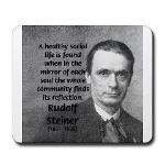 Rudolf Steiner: Education School Mousepad