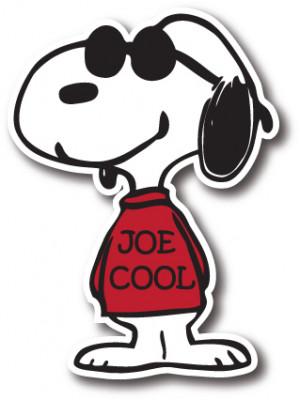 Home > Decals > Cartoon Decals > Snoopy Joe Cool Vinyl Die-Cut Decal ...