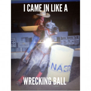 Barrel racing problems....done this more than a few timesw ...