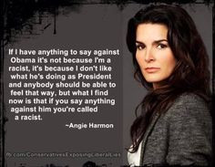 Angie Harmon is a strong conservative woman More