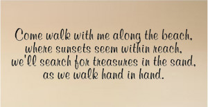 ... Beach ....Beach Wall Quote Words Sayings Removable Beach Wall Decal