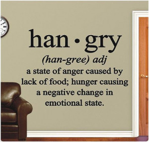 Hangry - Kitchen Vinyl Wall Decals Sticker Quotes