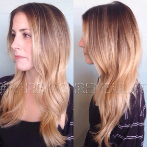 Blonde Balayage hair color   Yelp