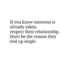 Relationship sideline respect quote