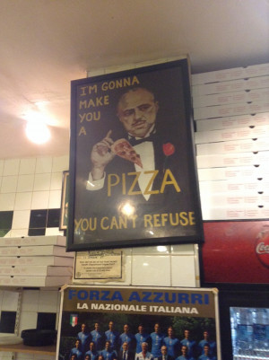 Pizza place uses famous Godfather quote to advertise their business