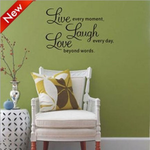 LAUGH LOVE SQUARE - Family Country Design - Vinyl .quotes and sayings ...