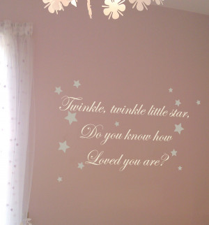 Twinkle Twinkle Little Star Wall Quote by Nutmeg Wall Art Stickers at ...