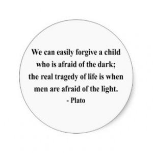 Plato Quote 5a Round Sticker