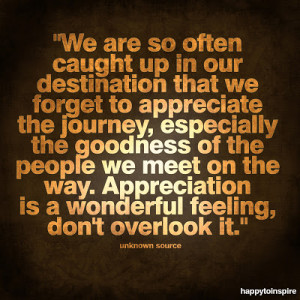 Learning the Art of Appreciation
