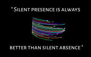 Colors black silence sayings words quotes:High Contrast