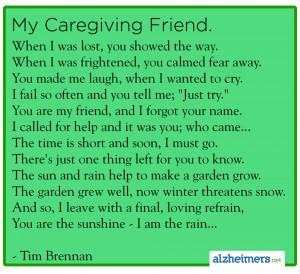 Poem: My Caregiving Friend