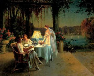 Quiet Evening Delphin Enjolras 100% Hand Painted Oil Painting Repro ...