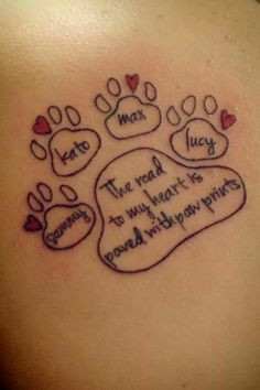 Paw Prints Dog Tattoos