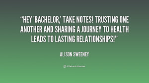 Hey 'Bachelor,' take notes! Trusting one another and sharing a journey ...