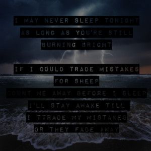panic! at the disco lyrics songs trade mistakes vices and virtues