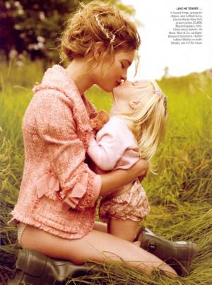 Natalia Vodianova & her family by Mario Testino for Vogue US November ...