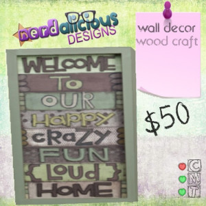 Second Life Marketplace - Welcome To Our Home - Wall Decor