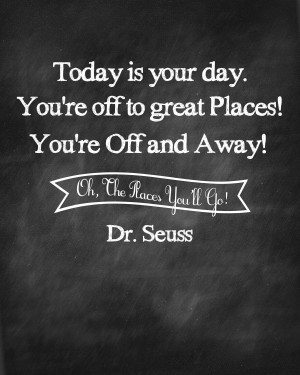 Oh the Places You'll Go Prints from Sweet Rose Studio