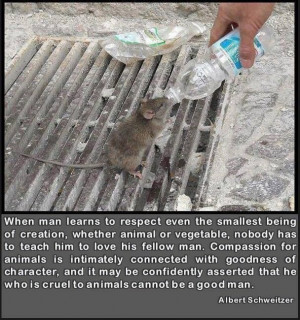 vegetable, nobody has to teach him to love his fellow man. Compassion ...