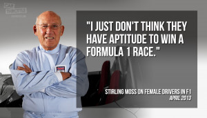 contentious quote by racing legend Sir Stirling Moss causes ...