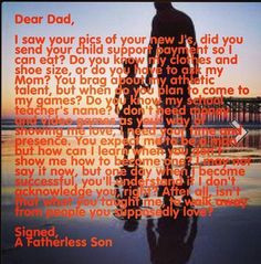 Fatherless son love it More
