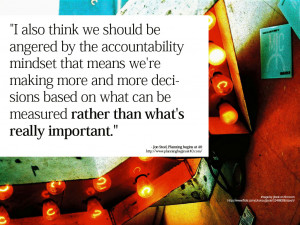 We need to start investing in a completely new set of data, to ...