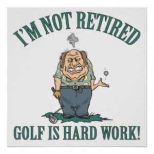 Funny Retired Golf Gift Print