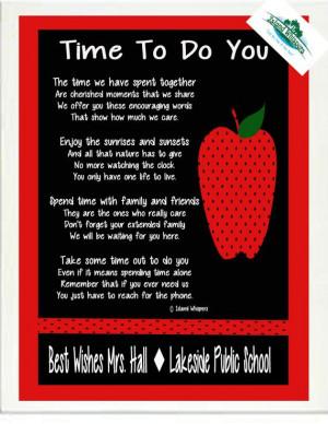 Teacher Retirement Poem Gift