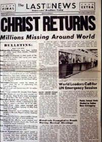 End Times Rapture Newspaper