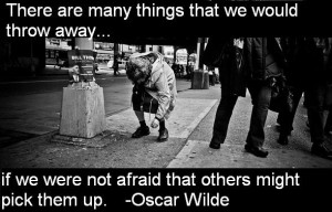 Oscar Wilde Quote On Throwing Away What Others Might Pick Up