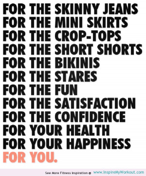 motivational fitness quote with a few good reasons why you should ...