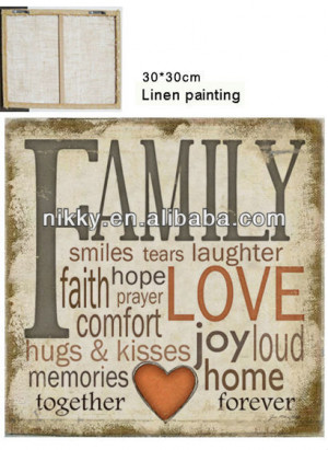 ... Painting > Hand made linen fabric painting with interesting sayings
