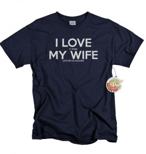 ... golf tshirt gift for men shirt husband Fathers Day gift I love my wife