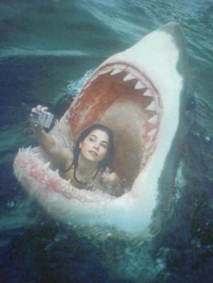 Funny Jaws Woman Facebook Selfie Profile Picture Joke Image
