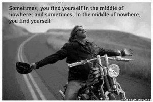 Find Yourself in the Middle of Nowhere