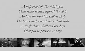 The prophecy in the last olympian