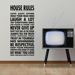 tweet house rules wall sticker quote wall stickers from abode wall art