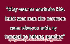 Long Distance Relationship Quotes Tagalog Long distance relationship
