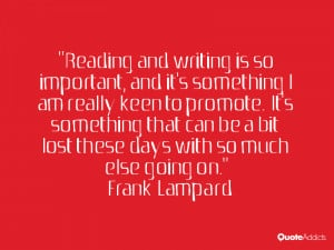 Reading and writing is so important, and it's something I am really ...