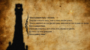 gandalf tower text grunge quotes sauron the lord of the rings