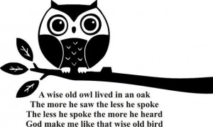 Wise Old Owl #quote